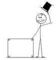 cartoon man or businessman or gentleman vector image