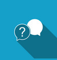 chat question icon isolated with long shadow help vector image vector image