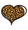 cheetah heart print object isolated on vector image vector image