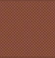 chocolate waffle texture pattern seamless vector image vector image