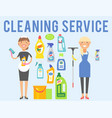 cleanser woman chemical housework product care vector image vector image