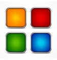Colored square buttons vector image vector image