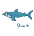 Cute cartoon shark vector image vector image