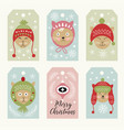 cute cats christmas cards vector image vector image