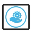 Development Service Framed Icon vector image vector image