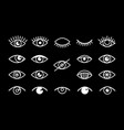 different eyes signs vector image vector image