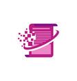 document pixel logo vector image vector image
