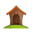 dog house isolated icon vector image vector image