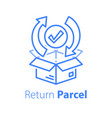 fast processing store order parcel shipment vector image vector image