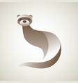 ferret logo stylized simplified and isolated vector image vector image