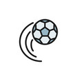 flying soccer ball flat color icon vector image