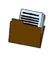 folder with paper document files office business vector image