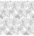 Forest seamless pattern vector image vector image