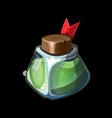 game icon with magic bottle vector image vector image