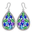 gemstones earrings mockup realistic style vector image vector image
