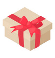 gift birthday icon isometric 3d style vector image vector image