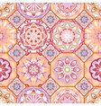 Gorgeous floral tile design vector image vector image