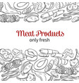 hand drawn meat product vector image vector image