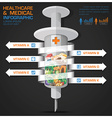 Healthcare And Medical Syringe Of Vitamin With vector image vector image