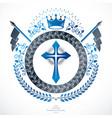 heraldic coat of arms vintage emblem