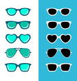 Hipster sunglasses vector image