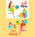 hot sale -70 posters set vector image vector image