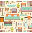 House furniture pattern vector image vector image