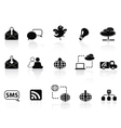Internet social communications icon set vector image vector image