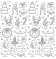 Isolated Christmas and New Year seamless pattern vector image vector image