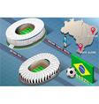 Isometric Stadium of Salvador and Porto Alegre vector image vector image