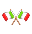 Italy crossed flags icon cartoon style vector image vector image