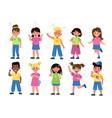 kids emotions international children in different vector image vector image