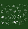 lackboard with hearts vector image
