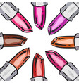 lipstick background vector image