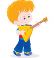 Little balalaika player vector image vector image