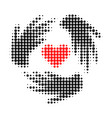 lovely craft hands halftone dotted icon vector image