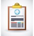 medical prescription design vector image