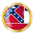 mississippi flag button vector image vector image