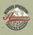 mountain expeditions adventure great mountain vector image