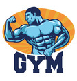 Muscle bodybuilder suitable for gym mascot vector image vector image