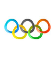 olympics circles in modern style vector image