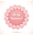 Pink realistic paper hearts circle frame vector image vector image