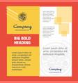 pizza company brochure title page design company vector image vector image