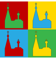 Pop art orthodox church icons vector image