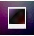 Realistic photo frame on geadient background vector image vector image