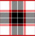 red black white tartan plaid seamless pattern vector image vector image