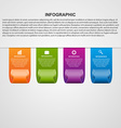 Ribbons modern template infographics vector image vector image