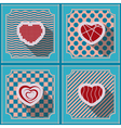 Seamless background with heart vector image vector image
