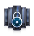 Server Rack Lock Realistic Isolated vector image vector image