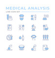 set color line icons medical analysis vector image vector image